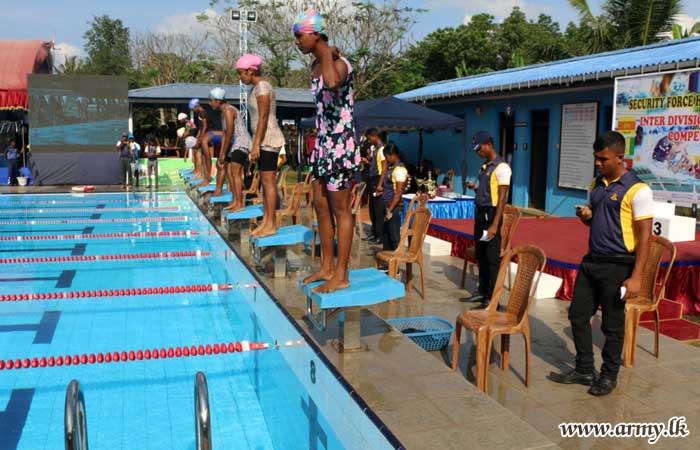 21 Division Clinches SFHQ-W Swimming Championship