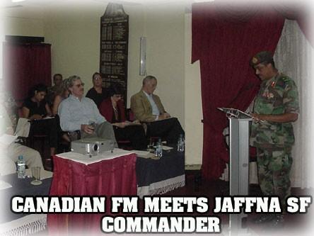 CANDIAN FM MEETS JAFFNA SF COMMANDER