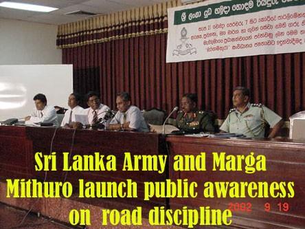 Sri Lanka Army and Marga Mithuro launch public awareness on road discipline